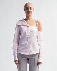 Coperni Asymmetric Shirt - Pale Pink