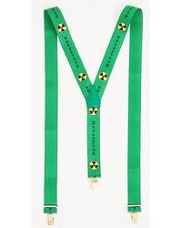 Gosha Rubchinskiy Green Printed Suspenders