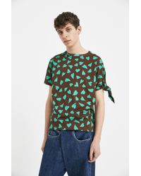 J.W. Anderson | Brown Heart Knots T-shirt | Lyst