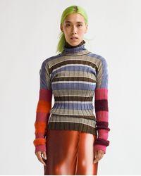 Colville Deep Sleeve Stripe - Multi - Blue