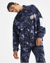 Martine Rose - Blue Camouflage Coat - Lyst