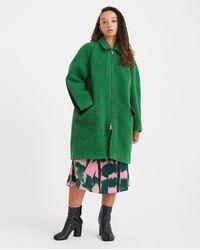 Colville Blanket Zip Coat - Green