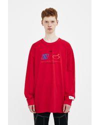 Xander Zhou - Red Graphics Long Sleeve Shirt - Lyst