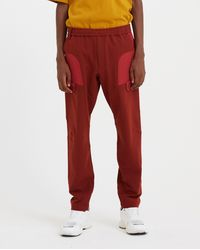 White Mountaineering Stretched Twill Tapered Tech Trousers - Burgundy / Red