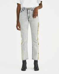 Aries - Grey Acid Lilly Tape Jeans - Lyst