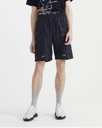 A_COLD_WALL* Bracket Taped Track Shorts - Black