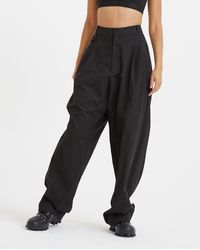Hyein Seo Chained Wide Trousers - Black