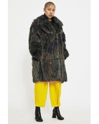 MM6 by Maison Martin Margiela Fake Fur Coat - Multicolour