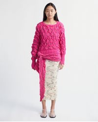 Kiko Kostadinov Bellatrix Wrap Jumper - Pink