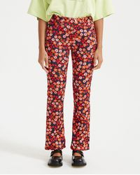 Marni - Floral Print Trousers - Multi - Lyst
