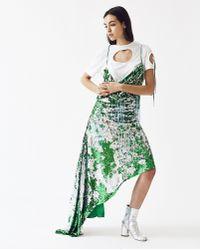 ART SCHOOL - Swarovski Asymmetric Slip Dress - Lyst