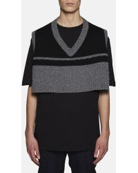 Raf simons Cropped Oversized Sleeveless Sweater in Black for Men ...