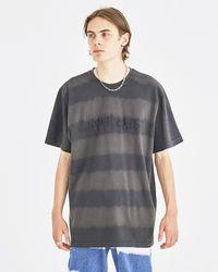 Liam Hodges Black Bleach Striped T-shirt