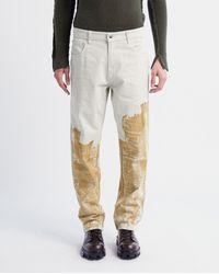 A_COLD_WALL* Pigment Trucker Jean - Chalk - Multicolour