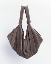 Lemaire Hairy Tote Bag - Brown