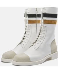 Raf Simons | Narrow Boot With Two Stripes On Ankle | Lyst