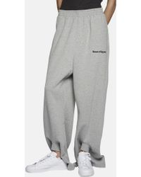 Gosha Rubchinskiy Oversized 'save And Survive' Double Cuff Joggers - Gray