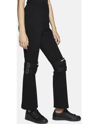 Hyein Seo Wool Trousers With Knee Protectors - Blue