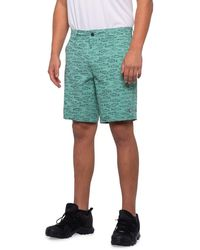 Sperry Top-Sider Fish Print Hybrid Swim Shorts - Green