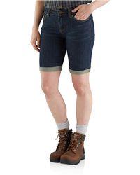 Carhartt 103041 Slim-fit Layton Bermuda Shorts - Blue