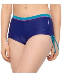 Reebok Callie Boy-short Bikini Bottoms - Blue