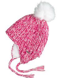 Chaos Thread Marled Ear Flap Beanie (for Women) - Pink