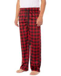 Izod Yarn-dyed Fleece Sleep Pants - Red