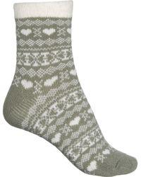 Woolrich Aloe-infused Cozy Socks - Green