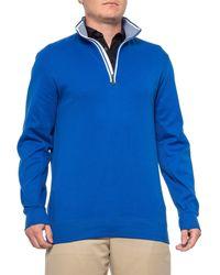 Bobby Jones Leaderboard Pullover Shirt - Blue