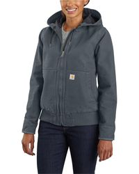 Carhartt Wj130 Washed Duck Active Jacket - Blue