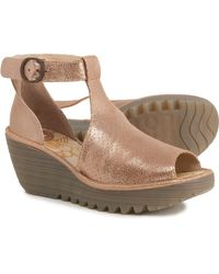 Fly London Yall Wedge Sandals - Multicolor