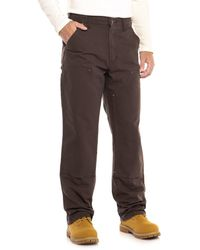 Carhartt - B136 Washed Duck Double-front Dungaree Jeans - Lyst