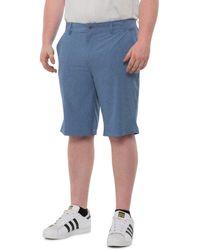 32 Degrees Stretch Melange Shorts - Blue