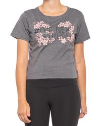 Asics Graphic 2 Crop T-shirt - Gray