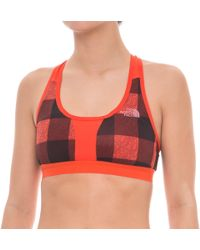 ea470a6a0f3d4 Lyst - The North Face Motivation Strappy Sports Bra (for Women) in Blue