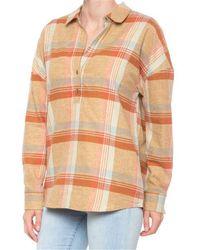 Prana Dante Flannel Shirt - Orange
