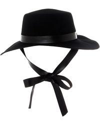 Betmar Eleanore Wide Brim Boater Hat - Black