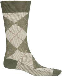Pantherella Jacquard Argyle Socks - Green