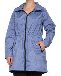32 Degrees Melange Stretch Rain Jacket - Blue