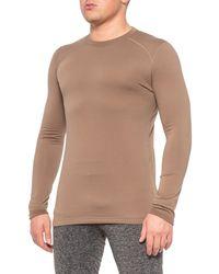 Terramar Military Brown Military Fleece 3.0 Base Layer Top