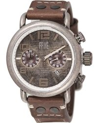 Frye Round Aged Double-layered Dial Watch - Gray
