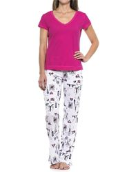 Cynthia Rowley City Love Pajamas - Pink