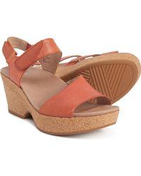 Earth Khaya Kella Wedge Sandals - Orange