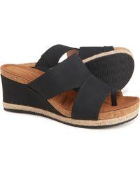 Adrienne Vittadini - Tilly Wedge Slide Sandals - Lyst