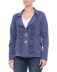 b1a8b49a4dc2f1 Neon Buddha - Abbotsford Blue Morgan Ruched Jacket (for Women) - Lyst