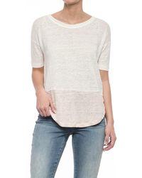 C&C California Drop Shoulder Color-block Tunic Shirt - Gray