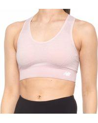New Balance Logo Sports Bra - Pink