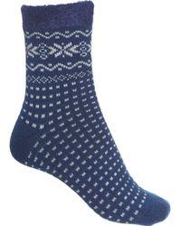 Woolrich Aloe-infused Dot Cozy Socks - Blue