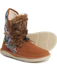Sanuk Tripper Flurry Ankle Boots - Brown