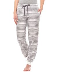 CALIDA Subtle Stripe Cuffed Lounge Pants (for Women) - Gray